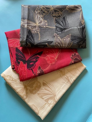 Choose 1 FQ butterflies fat quarter fancy quilting fabric 100% cotton (GIN for all 3 fat quarters!!)