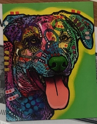 """CUTE COLORFUL DOG - 5 x 4"""" MAGNET"""