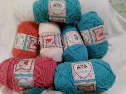 8 skeins of yarn