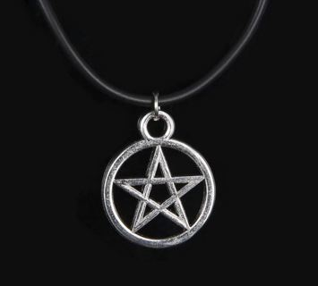 NEW Pentagram Pentacle Pendant Necklace Collar Pentagram wicca wican pagan witch gothic nature