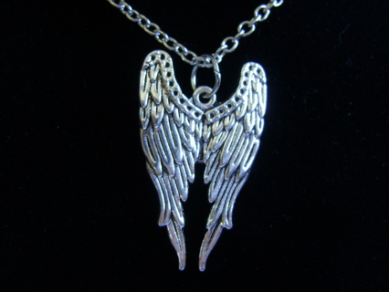 Alloy Angel Wings pendant Necklace & Earrings