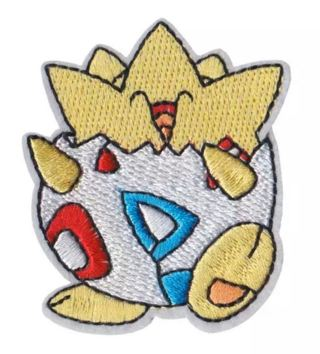 EMBROIDERED IRON ON PATCH ANIME MANGA Togepi POKEMON MONSTER APPLIQUE BADGE FABRIC ADHESIVE