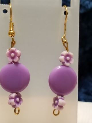 Purple earrings...