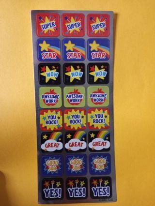Reward Sticker Sheet