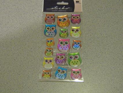 OWL Dimensional Stickers!! Super Cute!!