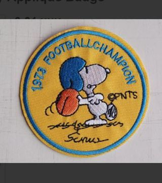 PEANUTS Snoopy Iron on Patch Football Sports Clothing Charlie Brown Dog Applique Badge