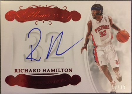 Richard Hamilton Autograph /15 Ruby Flawless Detroit Pistons