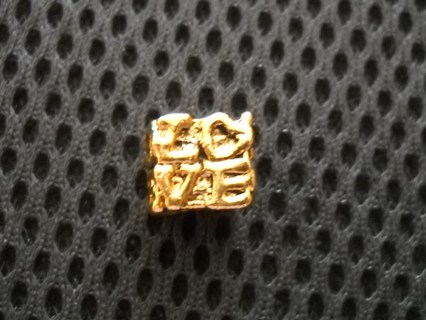 3 Gold Plated over SS Euro Charms for Pandora Style Jewelry