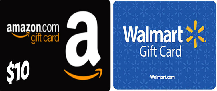 Free 10 amazon gift card or 10 walmart gift card digital 10 amazon gift card or 10 walmart gift card digital delivery negle Choice Image