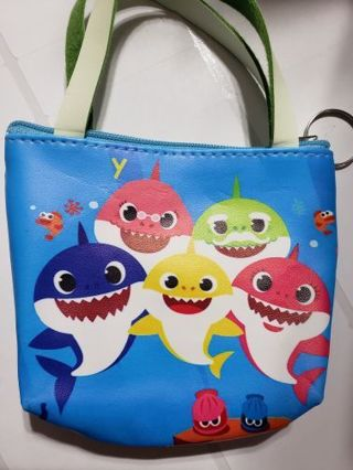 Baby shark coin purse