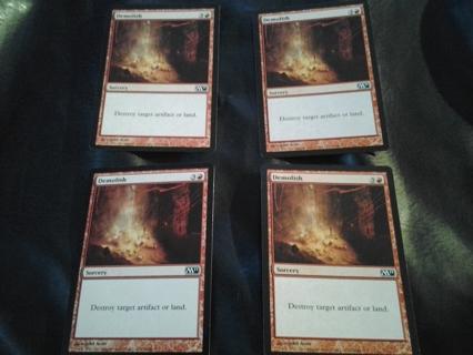 "MTG Sorcery - ""Demolish"" (red) ~ playset of 4 cards"