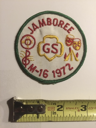 Vintage Girl Scout patch 1972 Jamboree