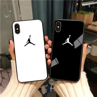 Flyman Air 23 Jordan Case for Samsung S10 S9 S8 Note 9 Sports Simple Glass Cover For iPhone X Xs M