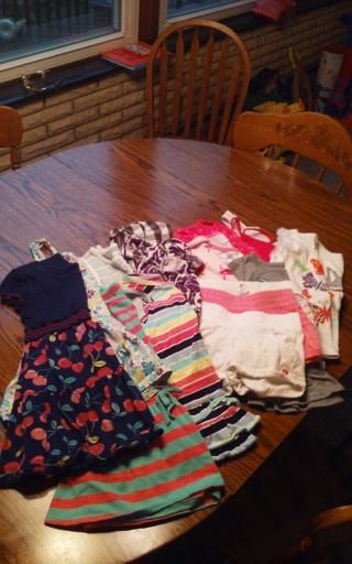 Med flat rate box size 4/5 girl's summer lot