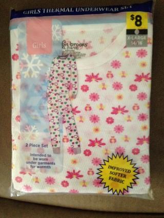 Little Girls Thermal Pajama Set