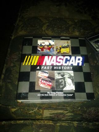 NASCAR book and trading cards