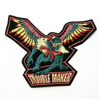 NEW Wizard of Oz Flying Monkey Trouble Maker SEW ON Patch Clothing Embroidery Badge FREE SHIPPING