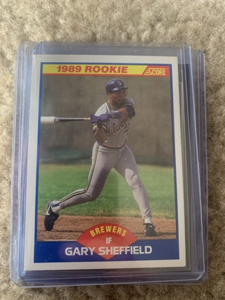 Gary Sheffield 1989 Score Rookie Card #625 Yankees Brewers