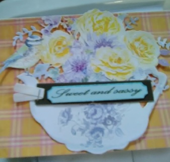 """"""" My Summer Teapot With Flower`s """" Design Blank Card"""