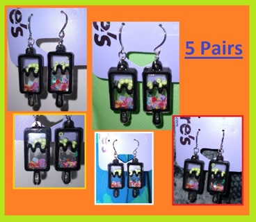 NEW: 5 Pairs of CLAIRES POPCICLE EARRINGS