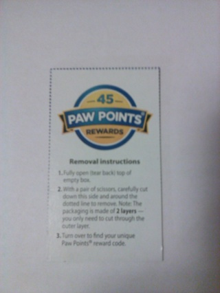 Fresh Step Code Good for 45 Paw Points
