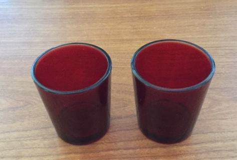 Ruby Red Anchor Hocking votive or Toothpick Holder