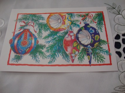 Christmas Tree Balls ~ Vintage Style Postcard ~ Free Shipping
