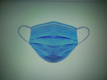 ~THREE NON MEDICAL SURGICAL FACE MASKS 3 PLY DISPOSABLE~