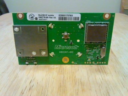 Video Game Xbox 360 RF Module and Power Button Board X803307-002