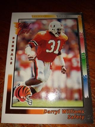 Football Trading Card ( Darryl Williams, Miami Hurricanes )