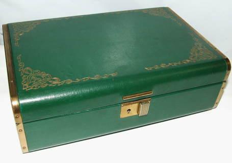 Farrington Jewelry Box Classy Free VINTAGE FARRINGTON JEWELRY BOX GENUINE TEXOL LEATHER COVER