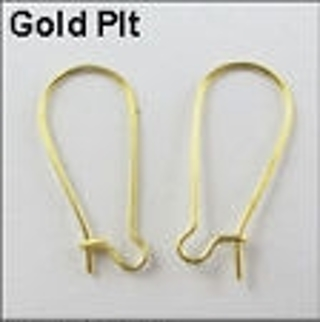 Goldtone Kidney Shaped Earring Findings
