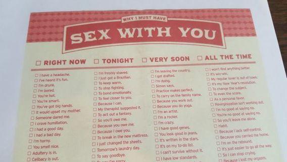 UNIQUE SEX WITH YOU FORM
