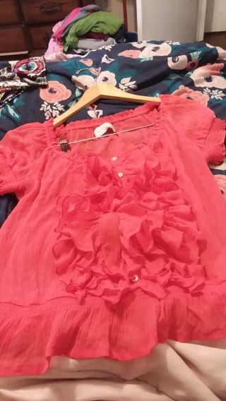 Women sheer blouse by Abercrombie & Fitch sz M