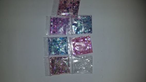 ❣❣❣7 BAGGIES OF GLITTER❣❣❣FREE SHIPPING