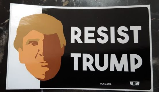 Collectable Decal: Resist Trump Political Decal