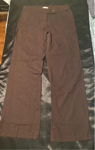 Brown Linen Pants Size Large