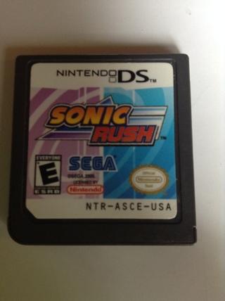 SEGA'S SONIC RUSH for Nintendo DS NTR-ASCE-USA