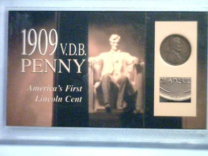 ★★★ 1909 VDB Lincoln Penny Coin in Plastic Case! ★★★