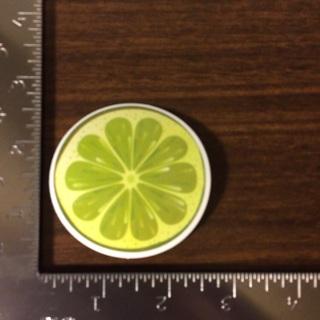 Lime Slice Glossy Vinyl Sticker Decal (011)