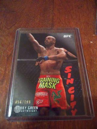 Bobby green UFC topps#'D 56/199 Jon jones UFC 2010