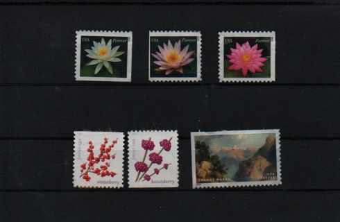 6 forever stamps - different design - L@@K