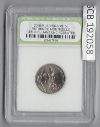 2006-P GEM Return to Monticello BRILLIANT UNC Buy any INB slab get 1/2 OFF additional 192058