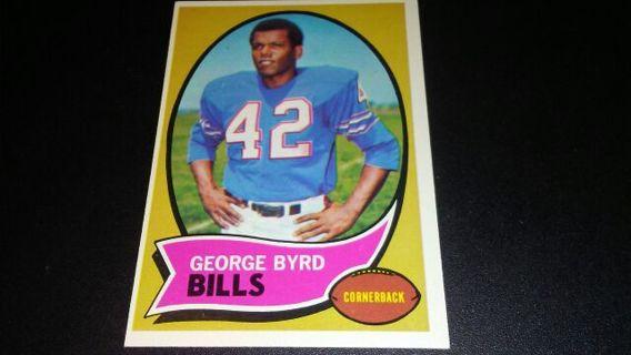 1970 TOPPS GEORGE BYRD BUFFALO BILLS FOOTBALL CARD