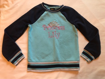 Princess Lily Sweatshirt Size 4/5 Made By Athletic