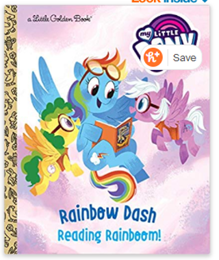 Rainbow Dash: Reading Rainboom! (My Little Pony) (Little Golden Book) Hardcover