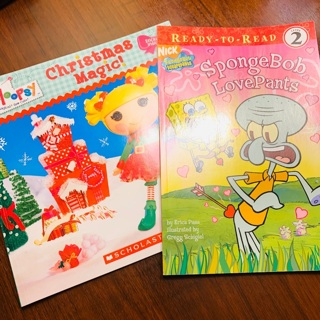 Lot of Brand New Books Gift Quality: Spongebob Squarepants & Lalaloopsy and Stickers (Value Over $8)