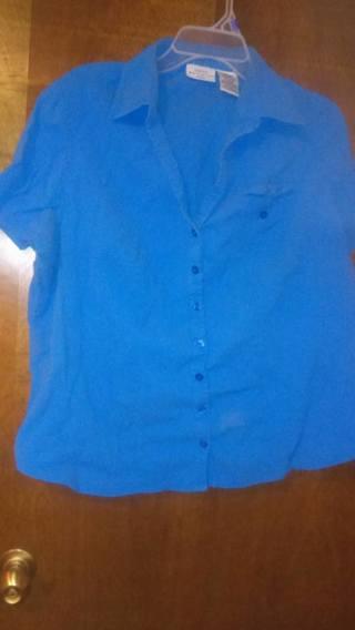 Blue Shirt Women White Stag
