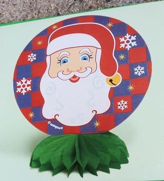 CHRISTMAS SANTA HONEYCOMB STAND UP DECORATION