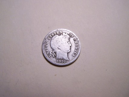 Silver 1916 Barber Dime